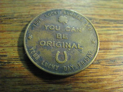 You Can Be Original Your Lucky Numbers 3 9 Lucky Day Friday Token    Lot# TK BOE