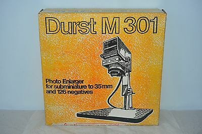 Durst M301 Photo Enlarger Darkroom Equipment 35mm And 126 Negatives With Lens