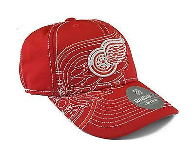 reputable site 64648 2b426 NHL Detroit Red Wings Reebok Red Draft Cap Fitted Hat, L XL