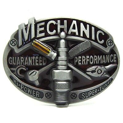 Garage Car Truck Mechanic Tools Belt Buckle Mens Leather Guaranteed to Perform