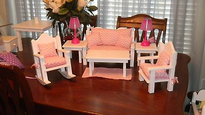 American Made 18 In Doll 15 Pc.living Room Pretty Big Sale Free Gift.....