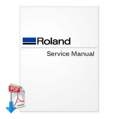 ROLAND VersaCamm SP-540V Service Manual