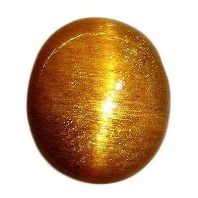 RARE! 7.140 cts 100% NATURAL UNTREATED UNHEATED GOLDEN RED SUNSTONE CAT'S EYE