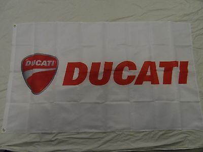 2017 NEW Ducati Motorcycles White racing  Flag Banner 3 x 5ft  free shipping 1