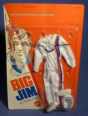 BIG JIM 7349 Action Set Race Car Driver Outfit MIB OVP Rennfahrer MATTEL F173