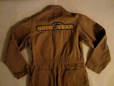 Vtg Goodyear Tires Coveralls Overalls 1940's - 1950's Automotive Advertising