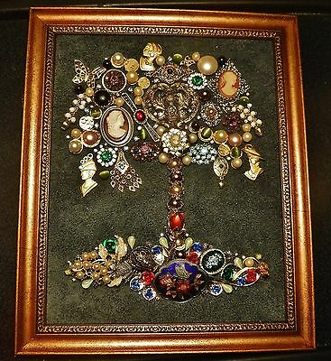 Art Deco Jewelry Tree, Vintage & Modern Jewelry, signed by Artist, one of a kind