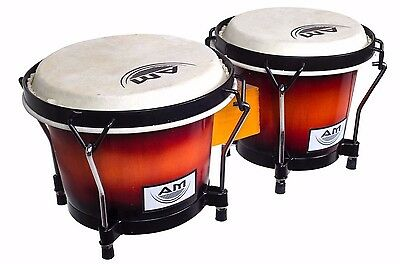 "AM Percussion ELEMENT 7"" and 8"" Deluxe Lap Bongos - SUNBURST with Buckskin Heads"