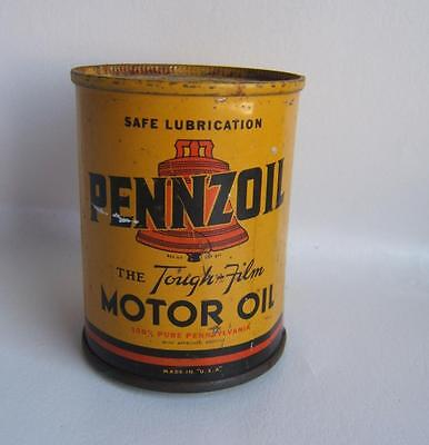 """Vintage Pennzoil Oil Can Bank 3"""" High"""