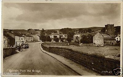 Grinton From The Bridge.  North Yorkshire. Old Postcard.