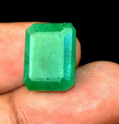 10.75 Ct Ebay Natural Emerald Cut Colombian Green Emerald Loose Gemstone-GIFTS