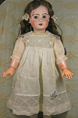 LOVELY ORIGINAL ANTIQUE DRESS & SLIP FOR A BISQUE FRENCH or GERMAN DOLL