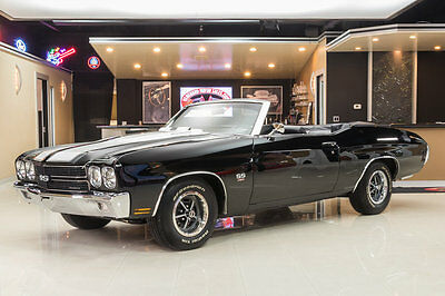 1970 Chevrolet Chevelle  Fully Restored, Convertible! GM 454ci V8, 4-Speed Manual, Factory A/C, PB, PS