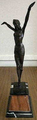 Art Deco Figurine bronze casting of an Egyptian  Dancer.  SIGNED D.H. Chiparus