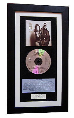 INNER CITY Paradise CLASSIC CD GALLERY QUALITY FRAMED+EXPRESS GLOBAL SHIPPING +