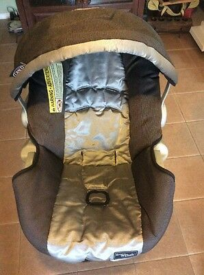 Graco 20 22 SnugRide Baby Car Seat Cushion Cover Canopy Part Set Gray Black