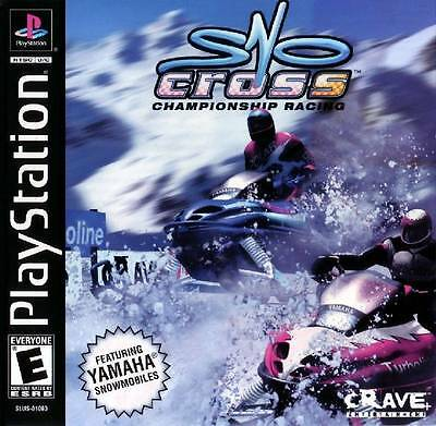 SnoCross Championship Racing - Sony Playstation 1 PS1 video game COMPLETE CIB