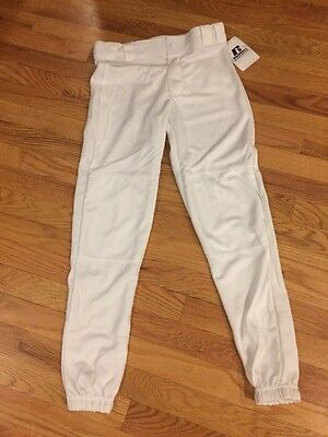 Russell Youth White Baseball Pants New With Tags $12.99 Boys Girls Kids XL