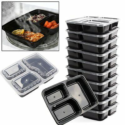 Premium 10 PACK Tupperware Gym Food Meal Prep Bodybuilding Lunch box with LID 3