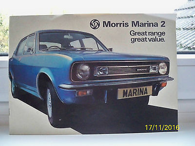 Vintage/Collectable MORRIS MARINA 2 RANGE 1976 UK  Sales Brochure