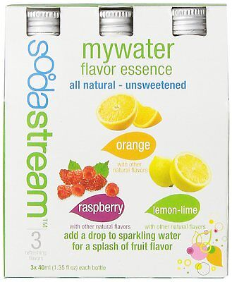 2 x SodaStream MyWater Variety, 40mL, 3-Pack (Two Packs of 3 Bottles)