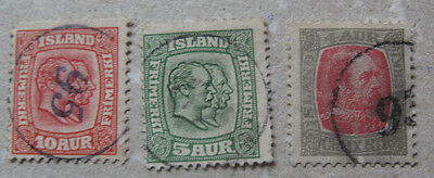 Iceland # 3 stamps  used.