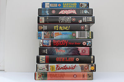 Selection of Rare Cult 1980s VHS Videos