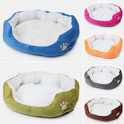 Small Medium Dog Bed Puppy Kitten Indoor Warm Padded Soft Pet Mat Bed Round S M