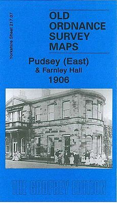 Old Ordnance Survey Map Pudsey (East) & Farnley Hall 1906