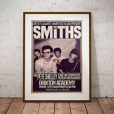 The Smiths 1986 The Final Concert Poster Print Three Sizes NEW Exclusive