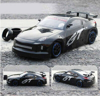 Black High-Speed Length 25CM Remote Control Simulation Car Rechargeable Toy  #