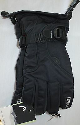 HEAD Jr Youth Ski Insulated Gloves, Black, Size M, NWT