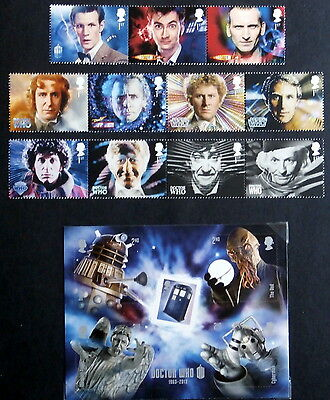 GB 2013 - Dr Who Props and Characters, Set of 11, Mini sheet + booklet of 6
