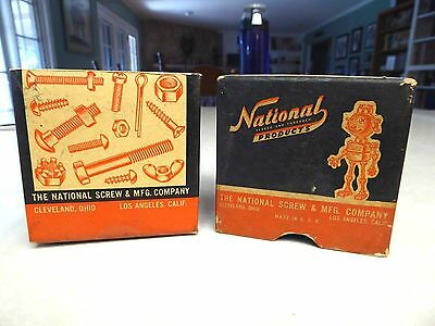 "Vintage National Products Machine Screws 2"" 6/32"" Nat the Robot Box"