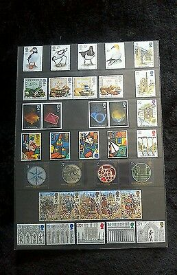Postage Year Sheet With Stamps 1989