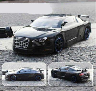 Black High-Speed Length 25CM Simulation Remote Control Car Rechargeable Toy  #