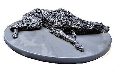 Scottish Deerhound Lying Figurine Limited Edition  by Leslie Hutto