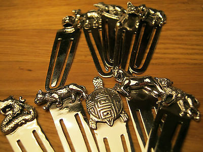 A Fabulous Wholesale Job Lot Of 10 Solid Silver 925 Animal Bookmarks Cat Horse