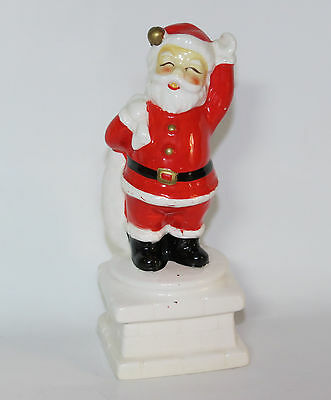Vintage Inarco Christmas Santa Claus Going Down Chimney Figurine E-2680