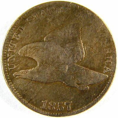 1857 P Flying Eagle Cent #1 RARE Obverse of 1856 S2b