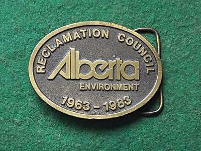 1983 ALBERTA ENVIRONMENT, Reclamation Council ~ Limited Edition Belt Buckle