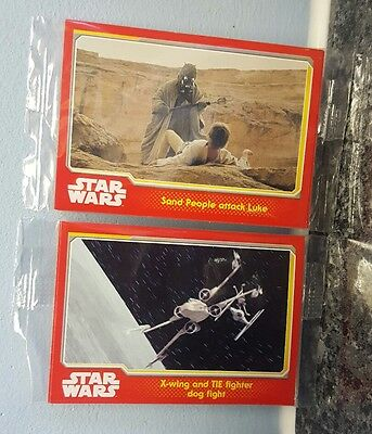 Star Wars Collector Cards Topps 2 Sealed Packs From Cheesestring Packets