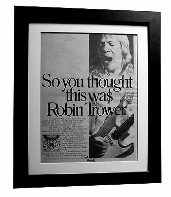 ROBIN TROWER+In City Dreams+POSTER+AD+FRAMED+RARE+ORIGINAL 1977+FAST GLOBAL SHIP