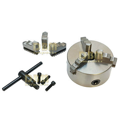 "3"" 3-Jaw Self-Centering Chuck  Lathe Milling Internal External Grinding Machines"