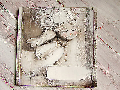 PERSONALISED angel  christening holy communion by GERTRUDE NAHN painting