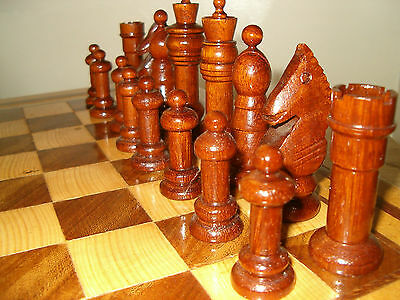 Chess Set, Board & Box Hand Made Original & Unique Set - Great Christmas Present