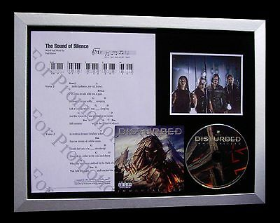 DISTURBED Sound Silence GALLERY QUALITY MUSIC CD FRAMED DISPLAY+FAST GLOBAL SHIP
