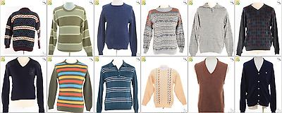 """JOB LOT OF 16 VINTAGE MEN""""S KNITS - Mix of Era's, styles and sizes (18064)*"""