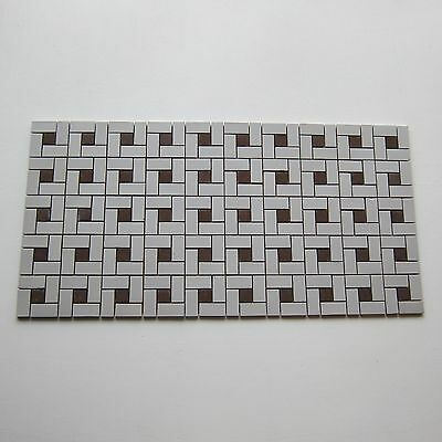 Vintage Porcelain 1950s Floor Tile, 599 Sq Ft Available, Made in Japan
