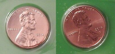 2014 US Sealed Lincoln Cent Set One P&One D From Mint Set